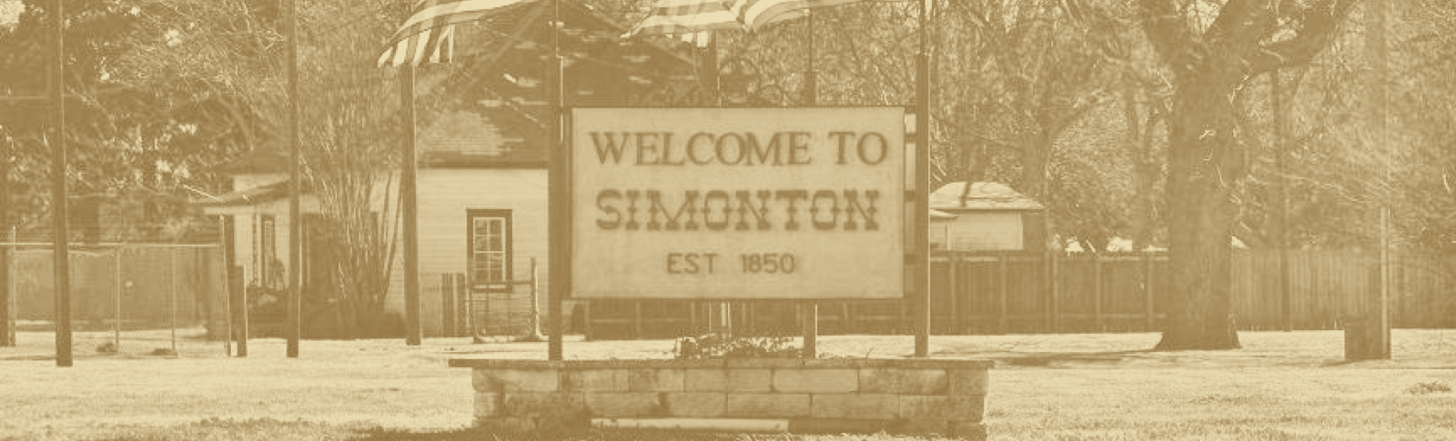 Welcome to Simonton sign